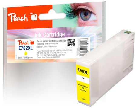 Peach Cartouche d'encre  jaune, compatible avec ID-Fabricant: T7024 Epson WorkForce Pro WP-4520