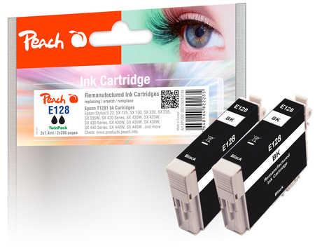 Peach  Twin Pack cartouche d'encre noire, compatible avec ID-Fabricant: T1281*2 Epson Stylus SX 420 W