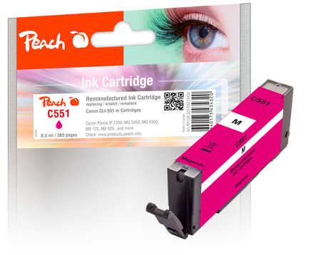 Peach  cartouche d'encre magenta compatible avec ID-Fabricant: CLI-551m Canon Pixma MX 725