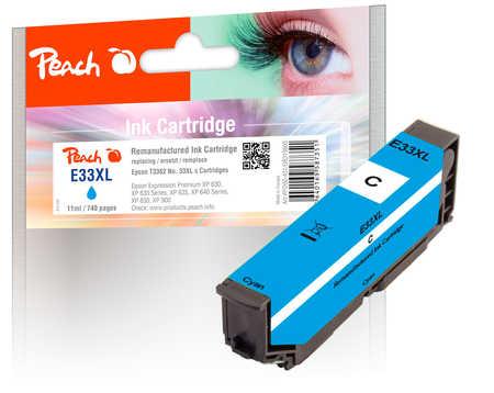 Peach  cartouche d'encre cyan compatible avec ID-Fabricant: No. 33XL c, T3362 Epson Expression Premium XP-830
