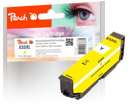Peach  cartouche d'encre jaune compatible avec ID-Fabricant: No. 33XL y, T3364 Epson Expression Premium XP-830