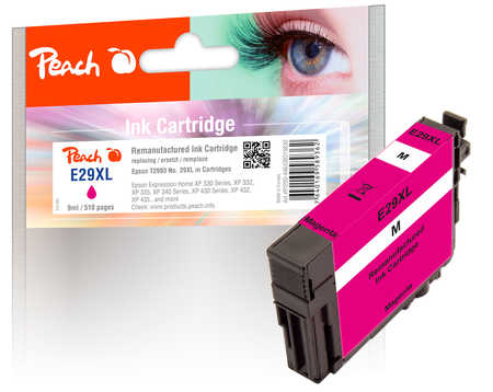 Peach  cartouche d'encre magenta compatible avec ID-Fabricant: No. 29XL m, T2993 Epson Expression Home XP-452