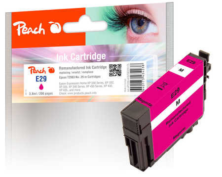 Peach Cartouche d'encre  magenta, compatible avec ID-Fabricant: No. 29 m, T2983 Epson Expression Home XP-452
