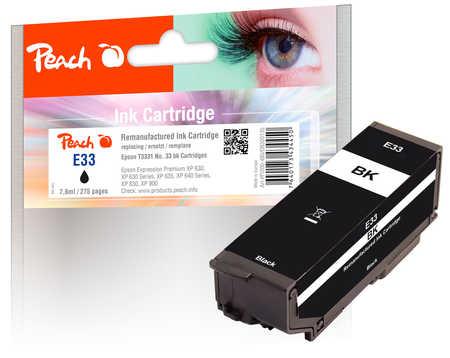 Peach Cartouche d'encre  noir, compatible avec ID-Fabricant: No. 33 bk, T3331 Epson Expression Premium XP-830