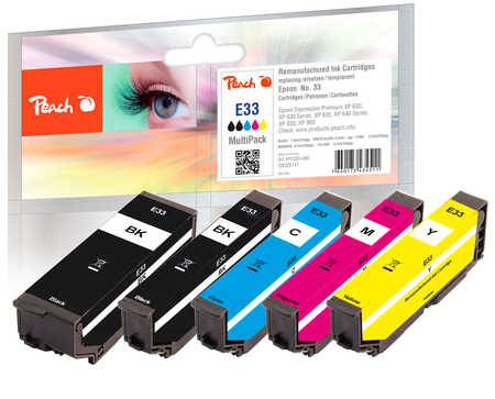 Peach  Multi Pack, compatible avec ID-Fabricant: No. 33, T3337 Epson Expression Premium XP-830