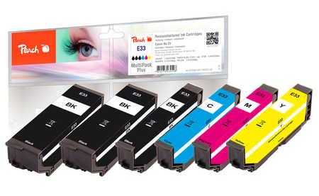 Peach  Multipack Plus, compatible avec ID-Fabricant: No. 33 Epson Expression Premium XP-830