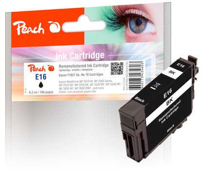 Peach Cartouche d'encre  noir, compatible avec ID-Fabricant: No. 16, T1621 Epson WorkForce WF-2530 WF