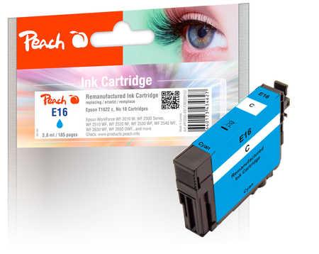 Peach Cartouche d'encre  cyan, compatible avec ID-Fabricant: No. 16 c, T1622 Epson WorkForce WF-2530 WF