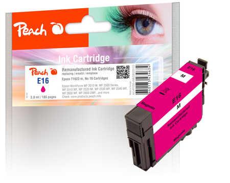 Peach Cartouche d'encre  magenta, compatible avec ID-Fabricant: No. 16 m, T1623 Epson WorkForce WF-2530 WF