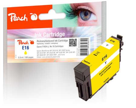 Peach Cartouche d'encre  jaune, compatible avec ID-Fabricant: No. 16 y, T1624 Epson WorkForce WF-2530 WF