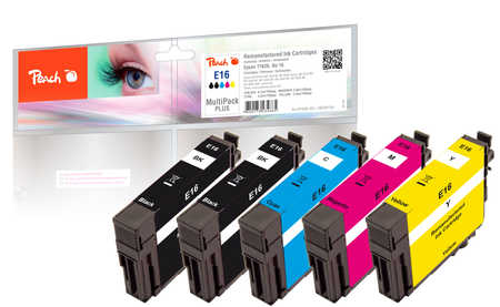 Peach Multipack Plus  compatible avec ID-Fabricant: No. 16 Epson WorkForce WF-2520 NF