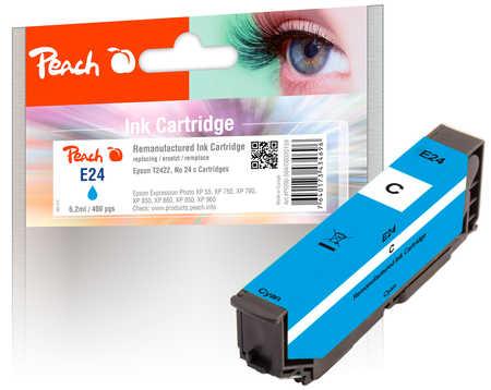 Peach Cartouche d'encre  cyan, compatible avec ID-Fabricant: No. 24 c, T2422 Epson Expression Photo XP-950