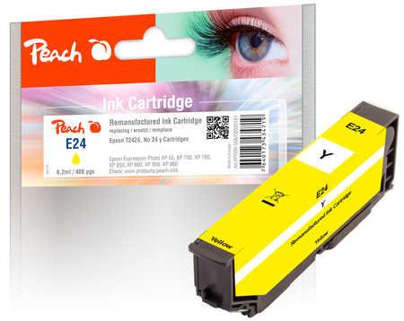 Peach Cartouche d'encre  jaune, compatible avec ID-Fabricant: No. 24 y, T2424 Epson Expression Photo XP-950