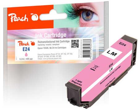 Peach  cartouche d'encre light magenta, compatible avec ID-Fabricant: No. 24 lm, T2426 Epson Expression Photo XP-950