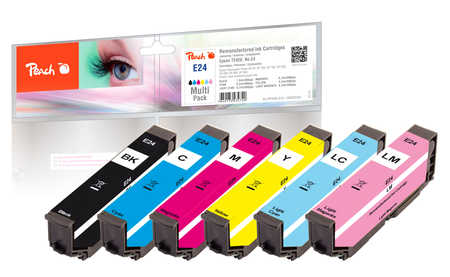 Peach  Multi Pack, compatible avec ID-Fabricant: No. 24, T2428 Epson Expression Photo XP-55