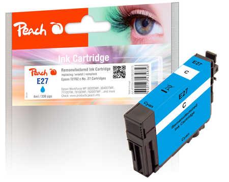Peach  cartouche d'encre cyan compatible avec ID-Fabricant: No. 27 c, T2702 Epson WorkForce WF-7710 DWF