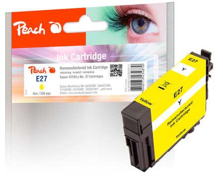 Peach  cartouche d'encre jaune compatible avec ID-Fabricant: No. 27 y, T2704 Epson WorkForce WF-7710 DWF