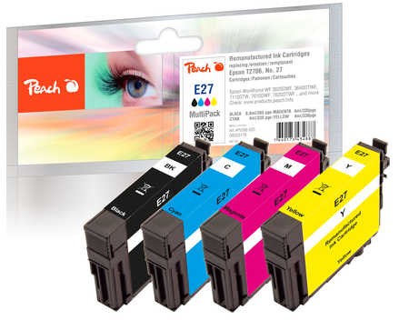 Peach  Multipack compatible avec ID-Fabricant: No. 27, T2706 Epson WorkForce WF-3620 WF