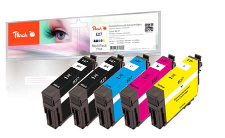 Peach  Multipack Plus compatible avec ID-Fabricant: No. 27 Epson WorkForce WF-3620 WF