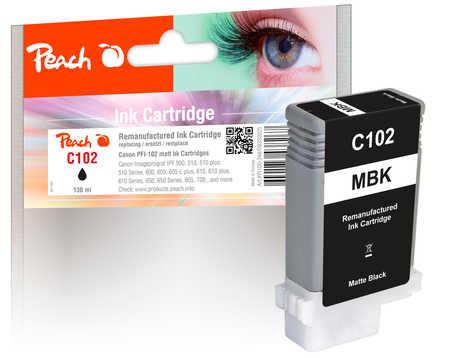 Peach Cartouche d'encre  noir mat, compatible avec Canon imagePROGRAF IPF 500