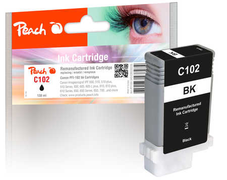 Peach Cartouche d'encre  noir, compatible avec Canon imagePROGRAF IPF 500