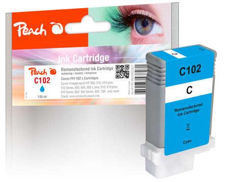 Peach Cartouche d'encre  cyan, compatible avec Canon imagePROGRAF IPF 500