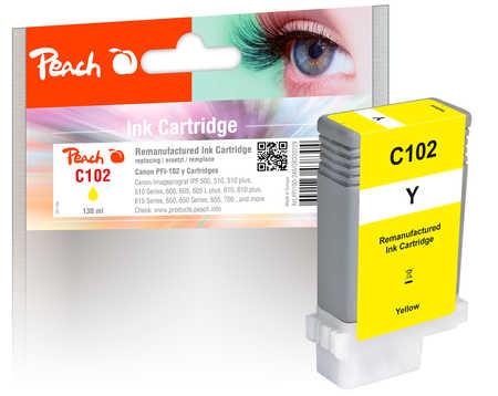 Peach Cartouche d'encre  jaune, avec puce, compatible avec Canon imagePROGRAF IPF 500