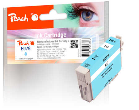Peach  cartouche d'encre light cyan, compatible avec ID-Fabricant: T0795 Epson Stylus Photo 1400