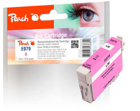 Peach  cartouche d'encre light magenta, compatible avec ID-Fabricant: T0796 Epson Stylus Photo 1400