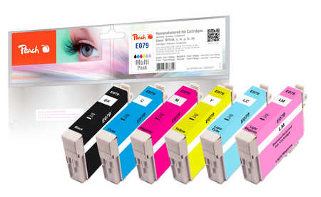 Peach  Multi Pack, compatible avec ID-Fabricant: T079 bk, c, m, y Epson Stylus Photo 1400