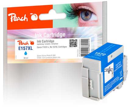 Peach Cartouche d'encre  cyan, compatible avec ID-Fabricant: No. 157XL, T1572 Epson Stylus Photo R 3000
