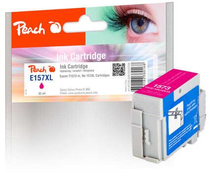 Peach Cartouche d'encre  magenta, compatible avec ID-Fabricant: No. 157XL, T1573 Epson Stylus Photo R 3000