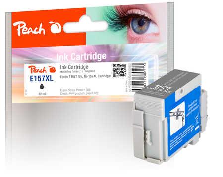 Peach  cartouche d'encre light noire, compatible avec ID-Fabricant: No. 157XL, T1577 Epson Stylus Photo R 3000