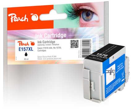 Peach Cartouche d'encre  noir mat, compatible avec ID-Fabricant: No. 157XL, T1578 Epson Stylus Photo R 3000