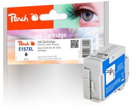 Peach  cartouche d'encre light noire, compatible with ID-Fabricant: No. 157XL, T1579 Epson Stylus Photo R 3000