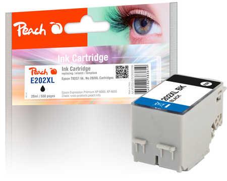 Peach  cartouche d'encre XL noire, compatible avec ID-Fabricant: No. 202XL, T02G1 Epson Expression Premium XP-6000