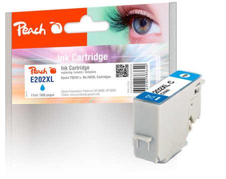 Peach  cartouche d'encre XL cyan, compatible avec ID-Fabricant: No. 202XL, T02H2 Epson Expression Premium XP-6000