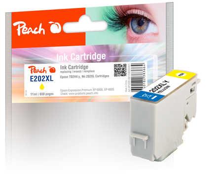 Peach  cartouche d'encre XL jaune, compatible avec ID-Fabricant: No. 202XL, T02H4 Epson Expression Premium XP-6000
