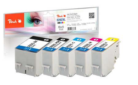 Peach  Multipack, XL compatible avec ID-Fabricant: No. 202XL, T02G7 Epson Expression Premium XP-6000
