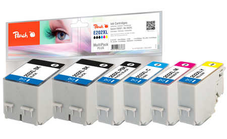 Peach  Multipack Plus, XL compatible avec ID-Fabricant: No. 202XL Epson Expression Premium XP-6000