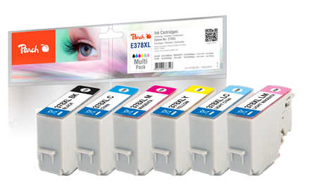 Peach  Multi Pack, HY compatible avec ID-Fabricant: No. 378XL, T3798 Epson Expression Photo XP-8600