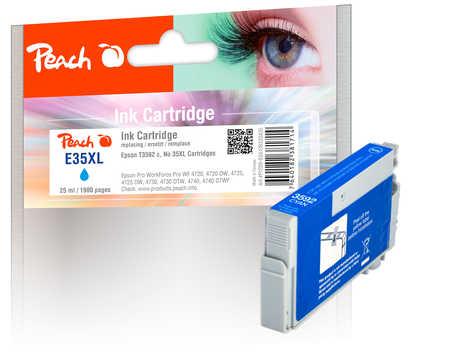 Peach  cartouche d'encre XL cyan, compatible avec ID-Fabricant: No. 35XL c, T3592 Epson WorkForce Pro WF-4735 DTWF