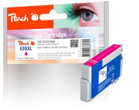 Peach  cartouche d'encre XL magenta, compatible avec ID-Fabricant: No. 35XL m, T3593 Epson WorkForce Pro WF-4735 DTWF