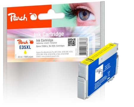Peach  cartouche d'encre XL jaune, compatible avec ID-Fabricant: No. 35XL y, T3594 Epson WorkForce Pro WF-4735 DTWF