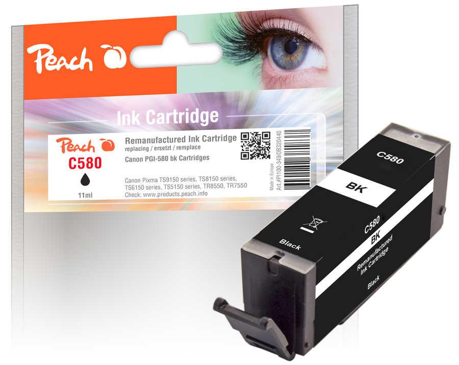 Peach Cartouche d'encre  noir, compatible avec Canon Pixma TS 9100 Series