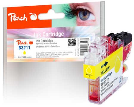 Peach Cartouche d'encre  jaune, compatible avec ID-Fabricant: LC-3211Y Brother MFCJ 491 DW