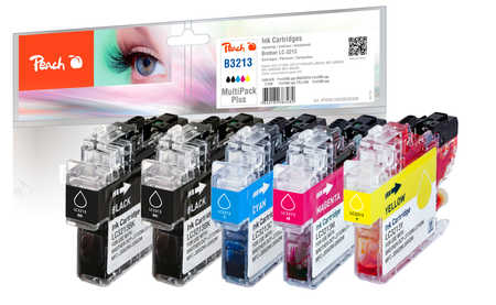 Peach  Multipack Plus avec puce, compatible avec ID-Fabricant: LC-3213 Brother MFCJ 491 DW