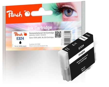 Peach  cartouche d'encre photo noire, compatible avec ID-Fabricant: No. 324, T3241 Epson SureColor SCP 400