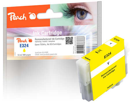 Peach Cartouche d'encre  jaune, compatible avec ID-Fabricant: No. 324, T3244 Epson SureColor SCP 400