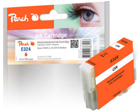 Peach  Ink Cartridge orange, compatible with ID-Fabricant: No. 324, T3249 Epson SureColor SCP 400